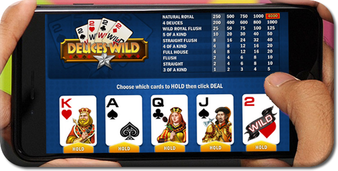 Smartphone video poker games